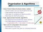 organization algorithms