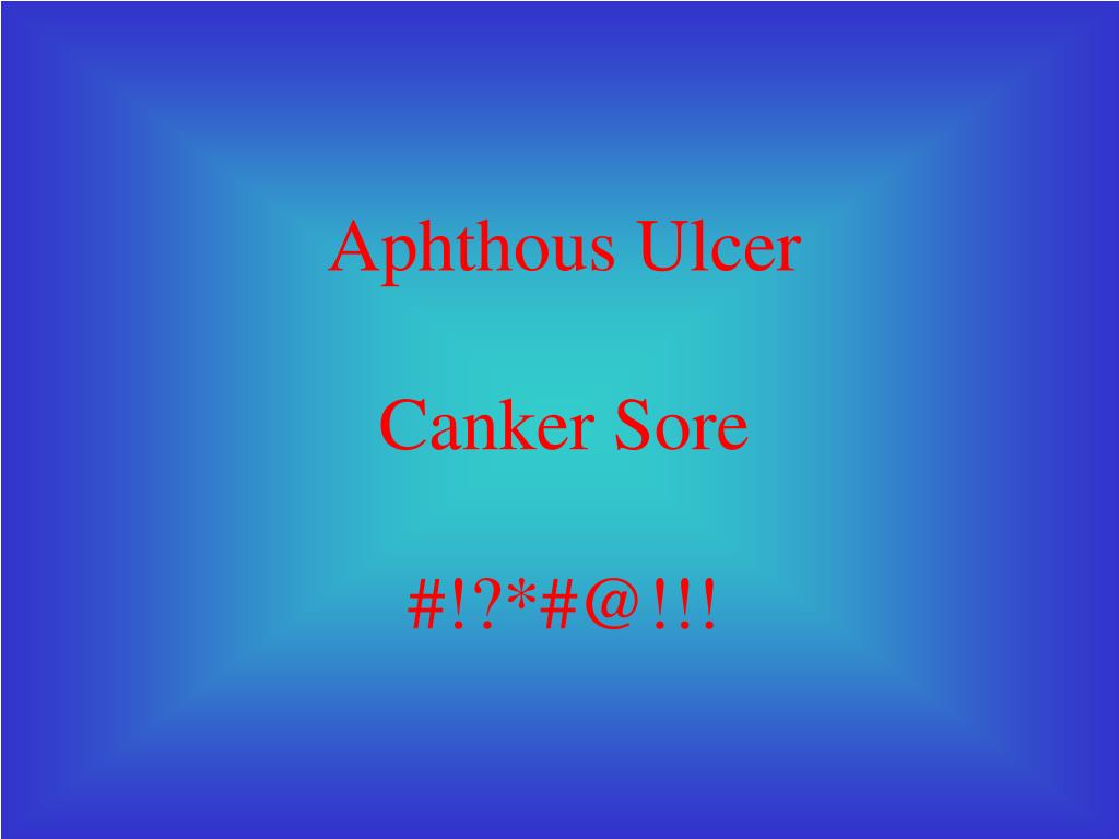 Aphthous Ulcer