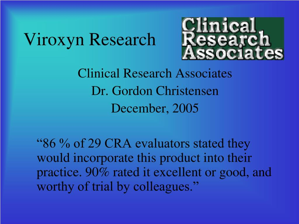 Viroxyn Research