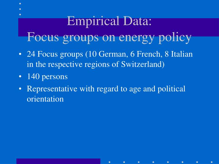 Empirical Data: