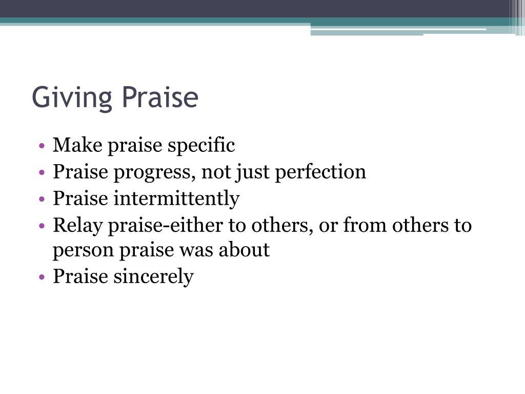Giving Praise