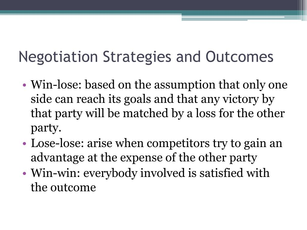 Negotiation Strategies and Outcomes