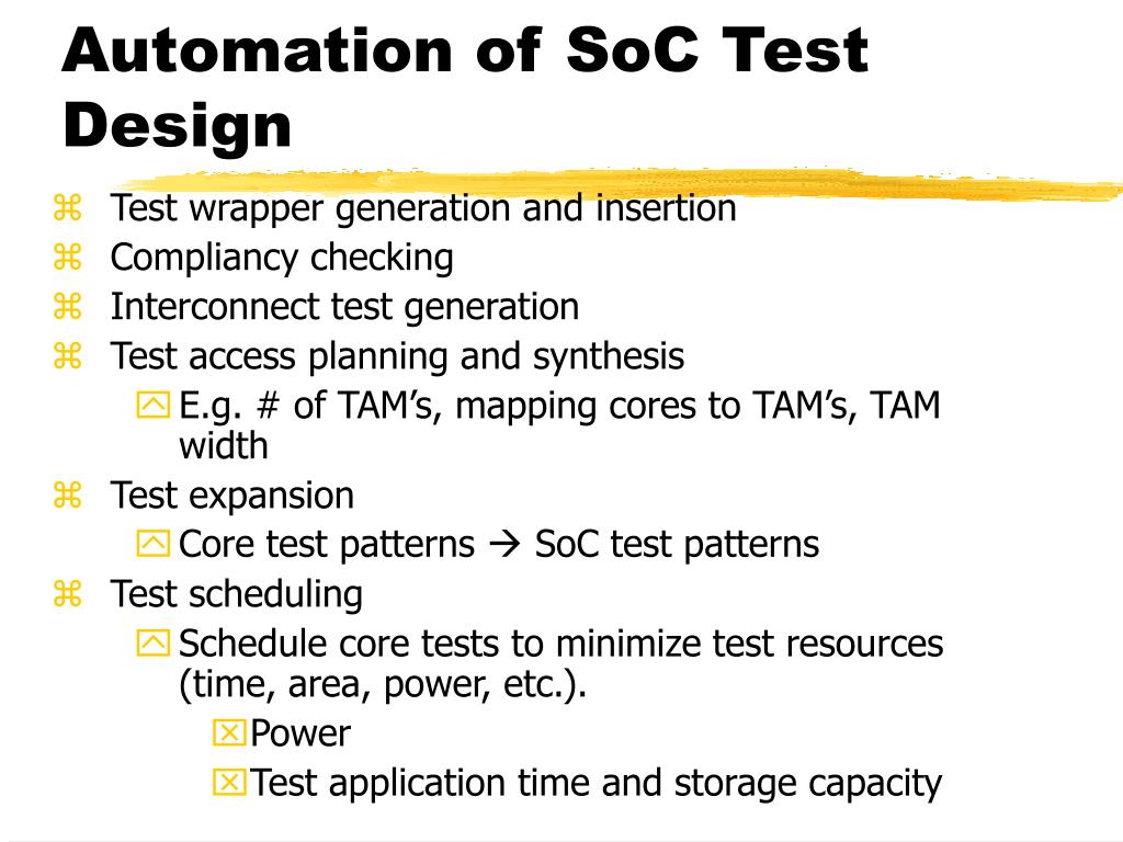 Automation of SoC Test Design