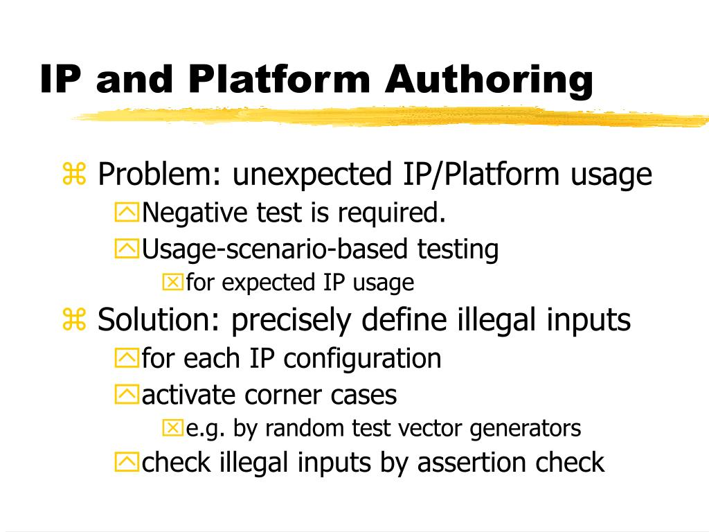 IP and Platform Authoring