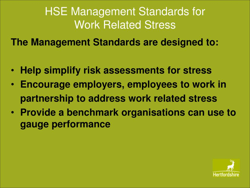 HSE Management Standards for