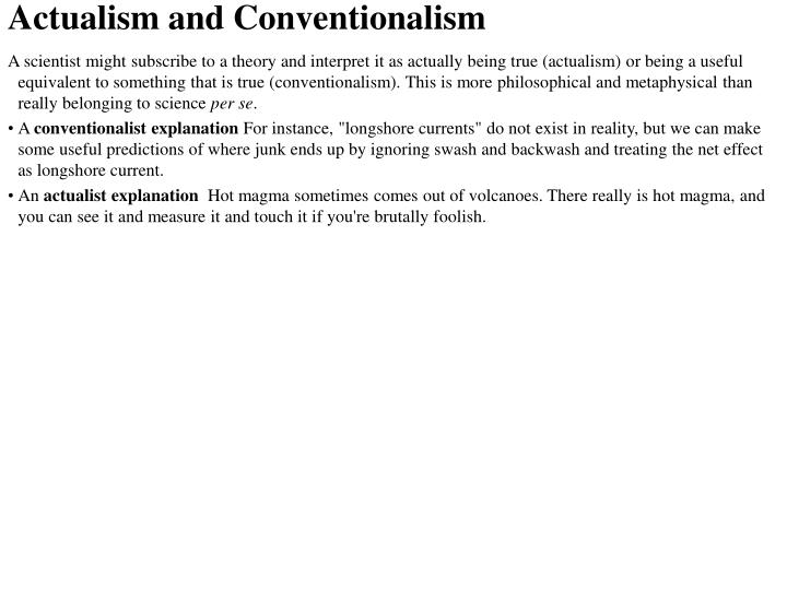 Actualism and Conventionalism