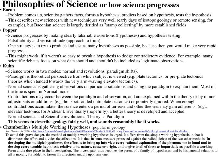 Philosophies of Science