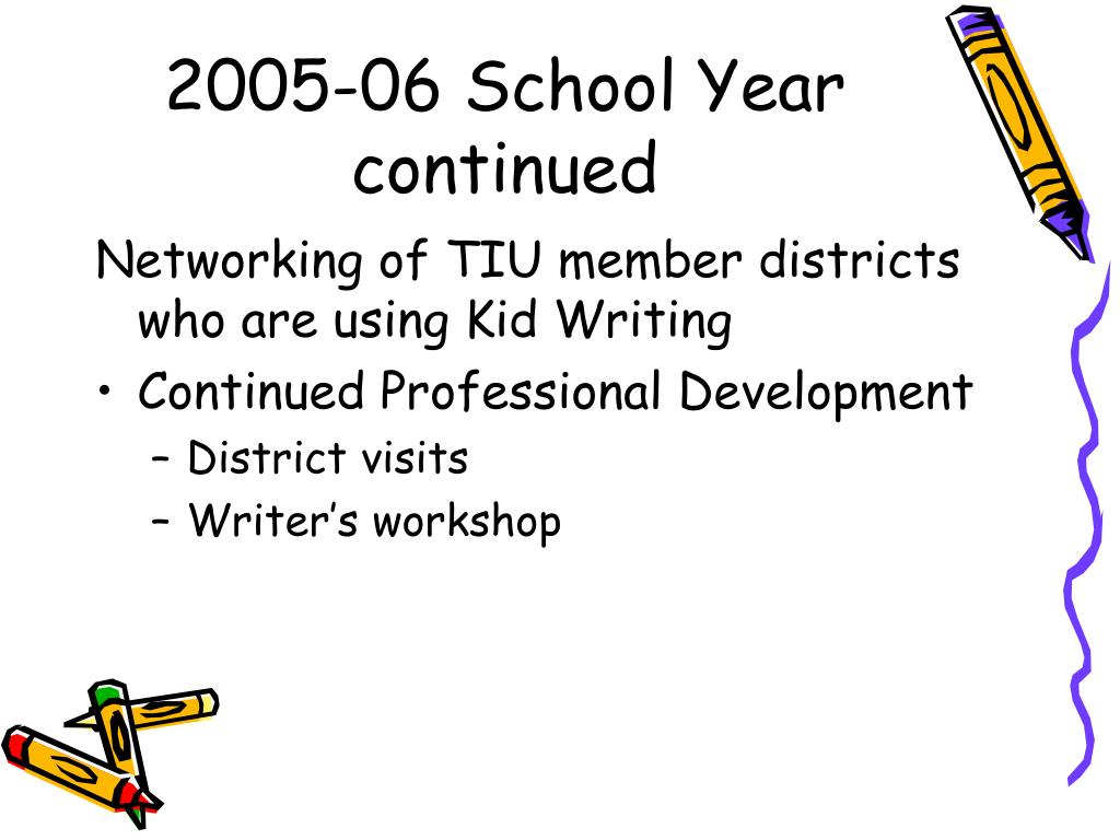 2005-06 School Year continued
