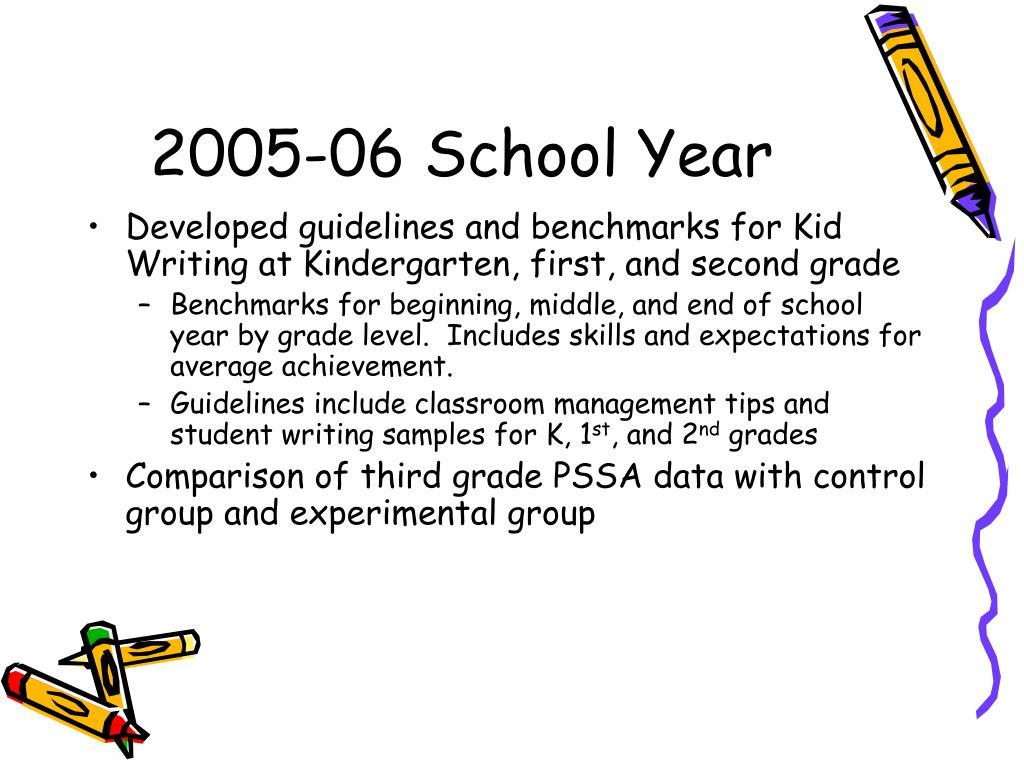 2005-06 School Year