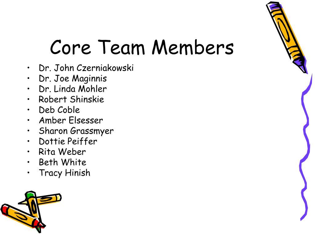 Core Team Members