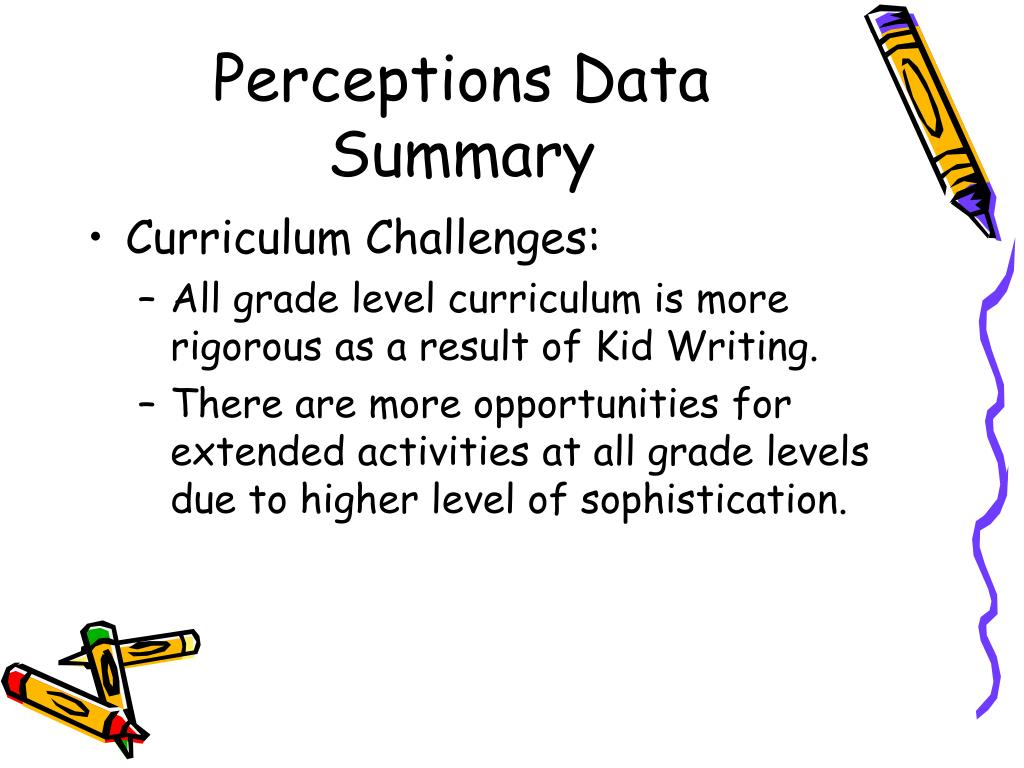 Perceptions Data Summary