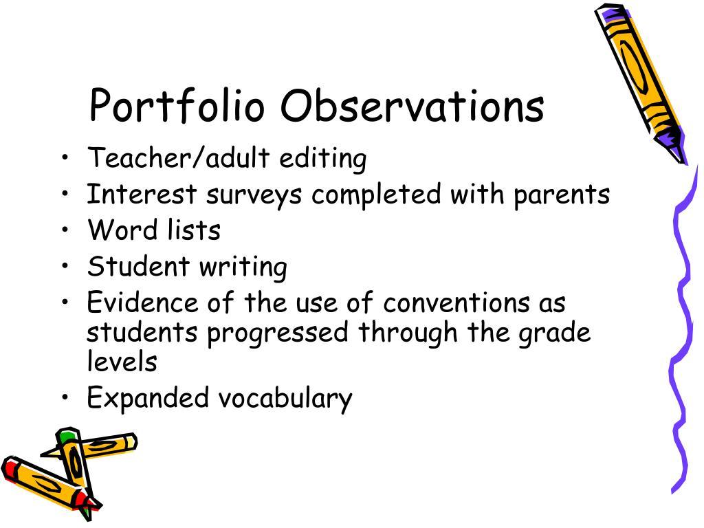 Portfolio Observations