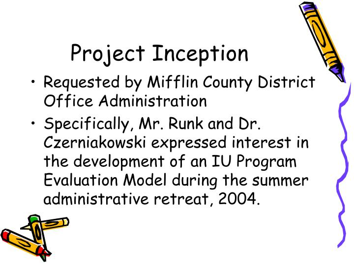 Project inception