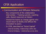cfir application