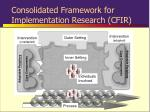 consolidated framework for implementation research cfir7