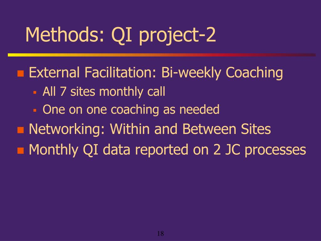 Methods: QI project-2