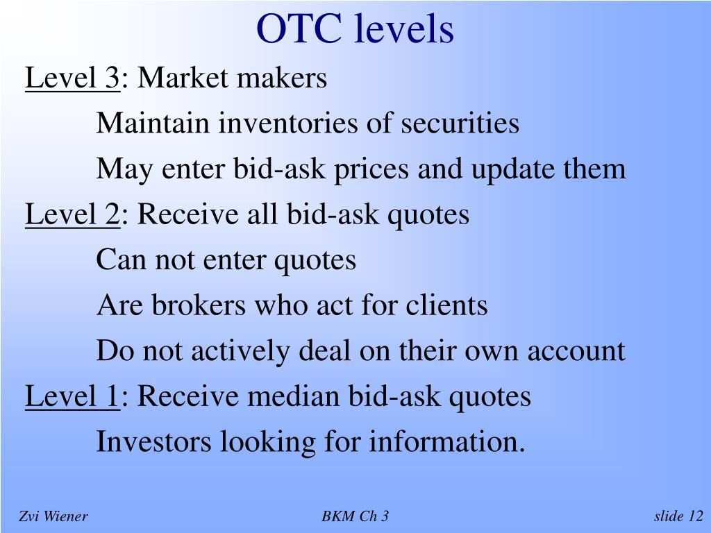 OTC levels