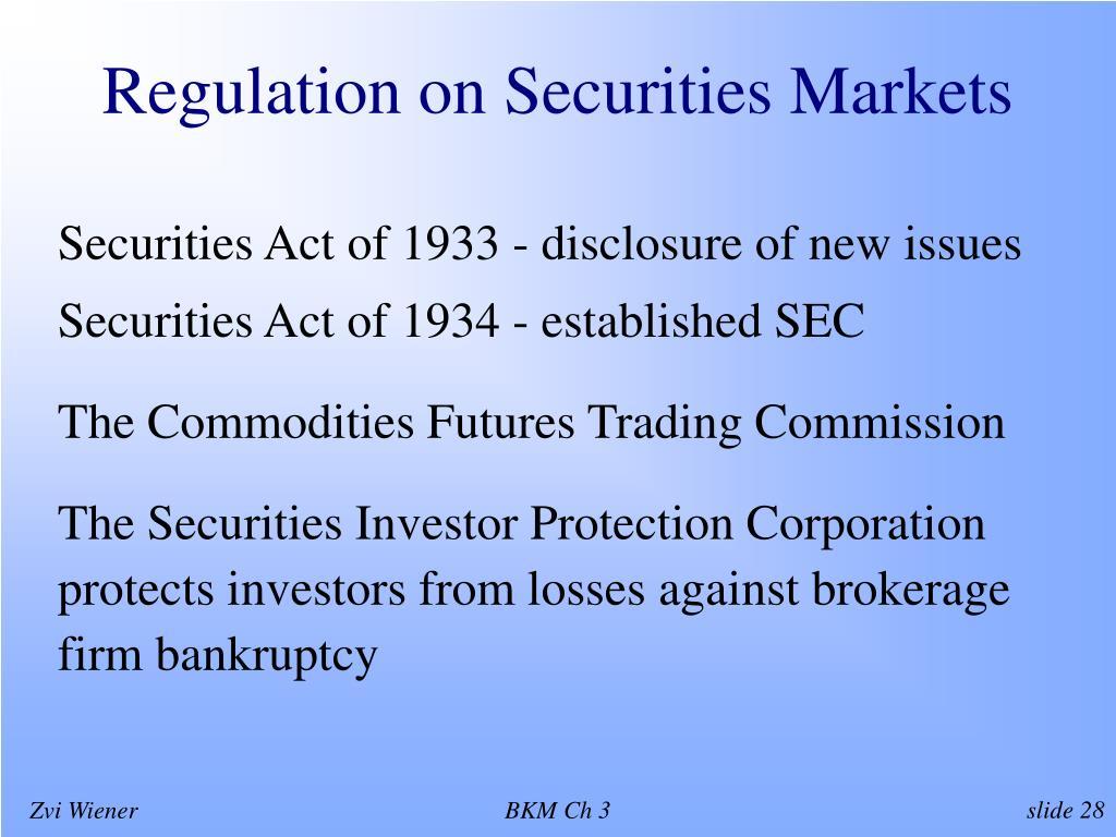 Regulation on Securities Markets