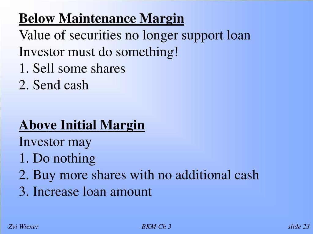 Below Maintenance Margin