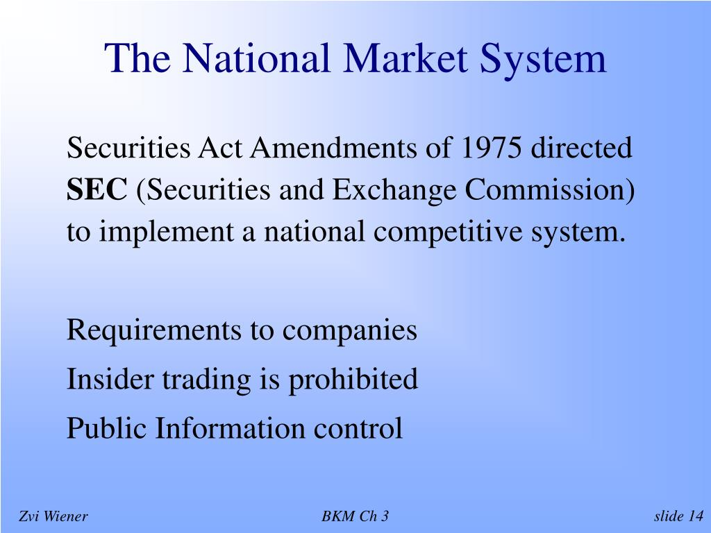 The National Market System