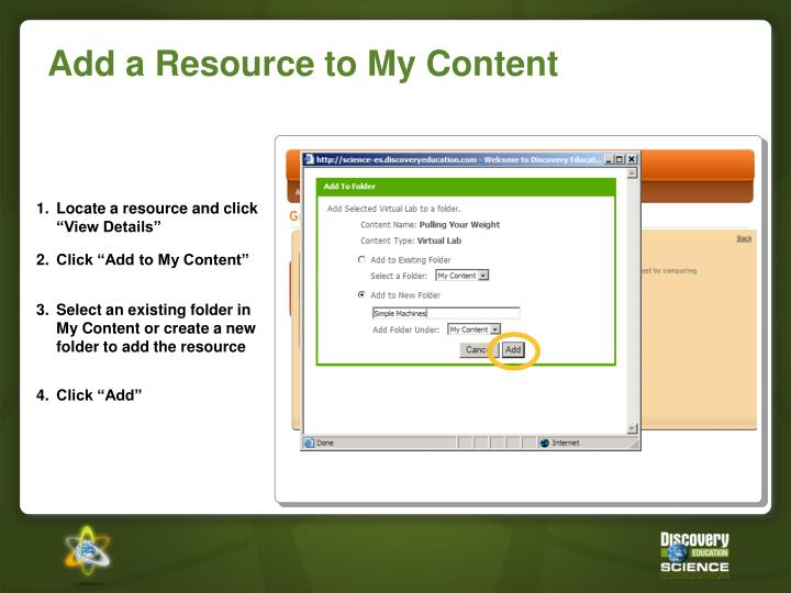 "1.Locate a resource and click ""View Details"""