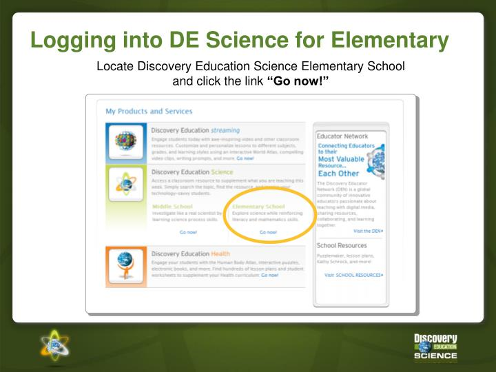 Locate Discovery Education Science Elementary School