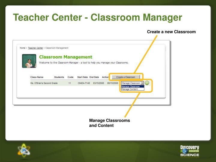 Create a new Classroom