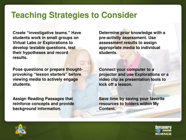 Teaching Strategies to Consider