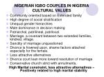 nigerian igbo couples in nigeria cultural values