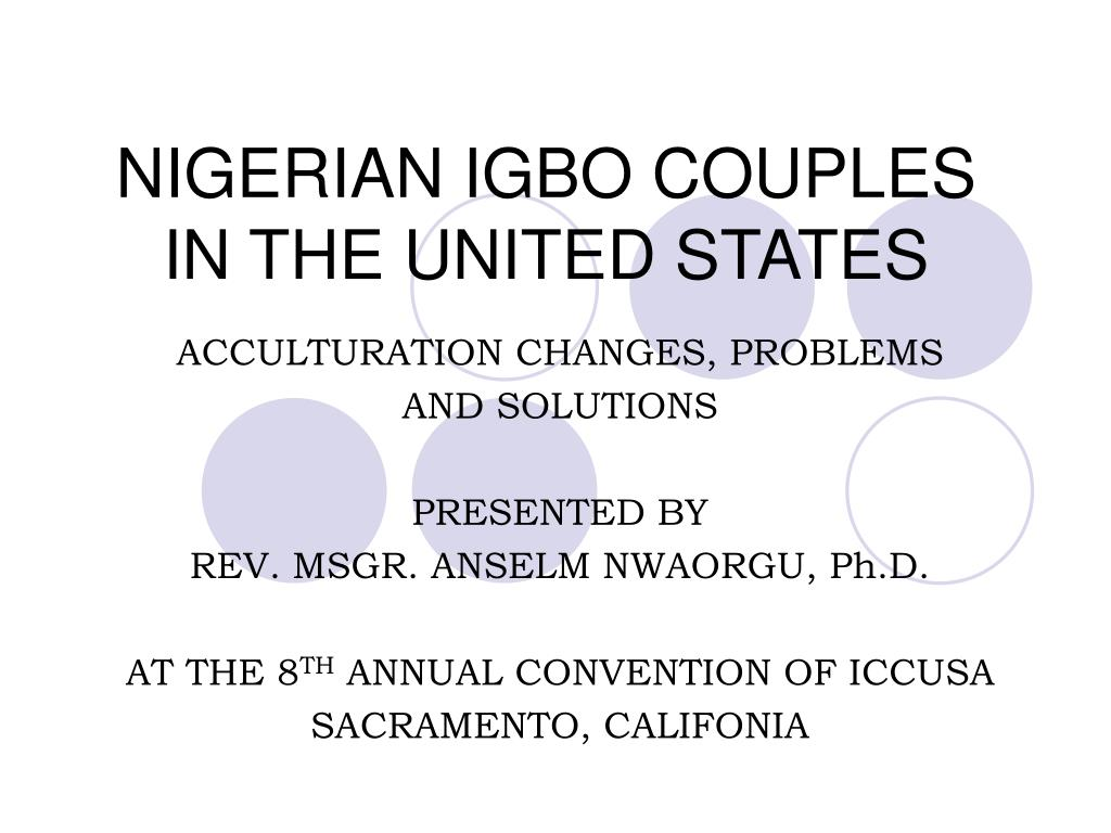 nigerian igbo couples in the united states