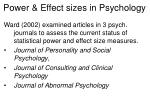 power effect sizes in psychology