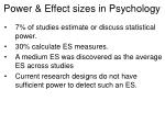 power effect sizes in psychology60