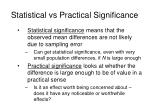 statistical vs practical significance