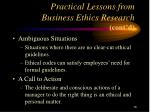 practical lessons from business ethics research cont d16