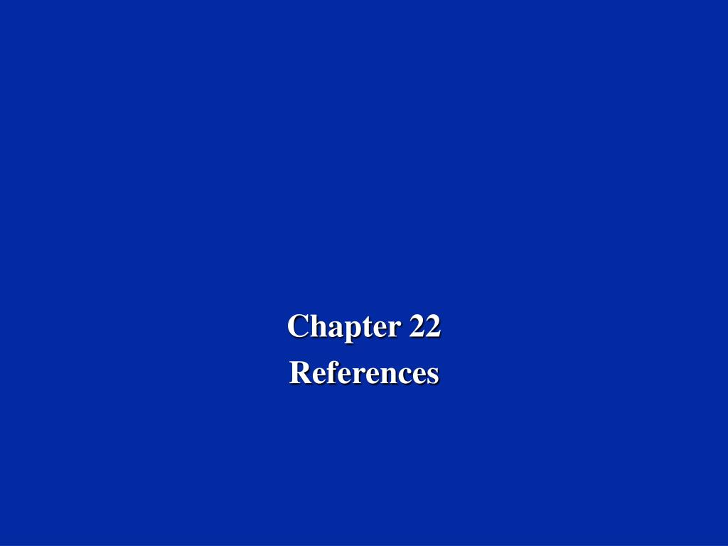 chapter 22 references