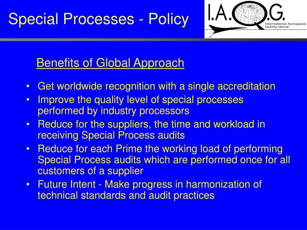 Special Processes - Policy