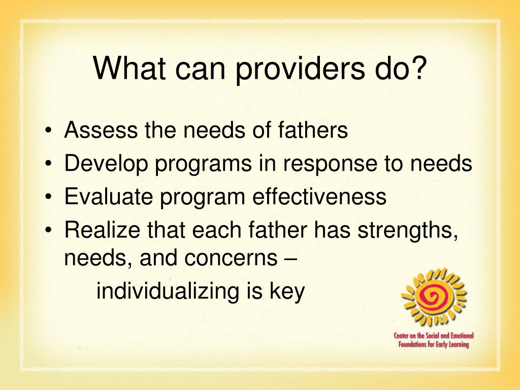 What can providers do?