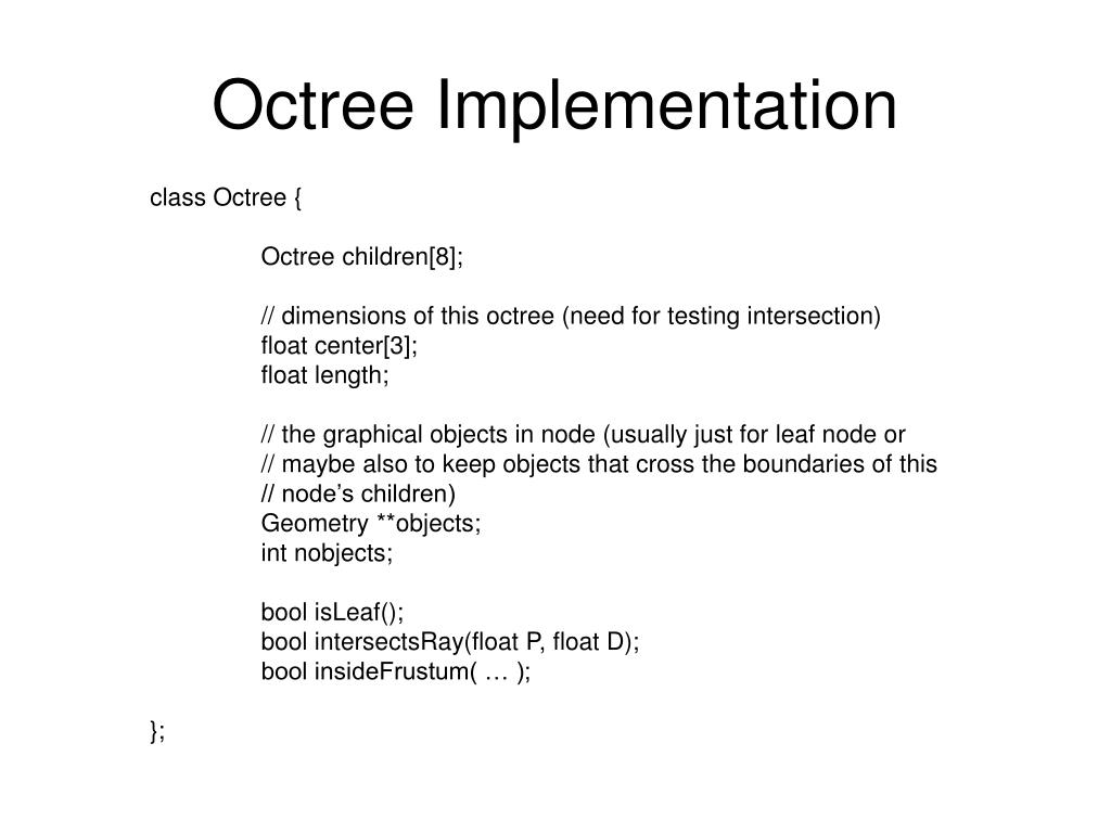 Octree Implementation
