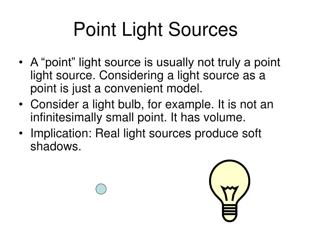Point Light Sources