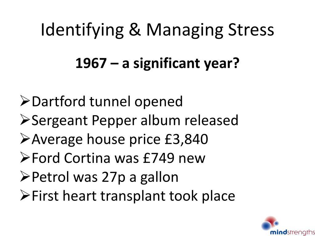 identifying managing stress