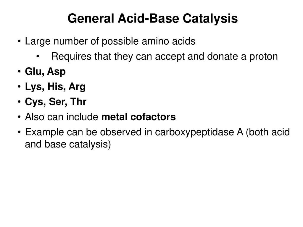 General Acid-Base Catalysis