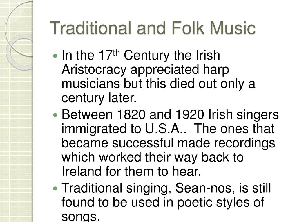 Traditional and Folk Music