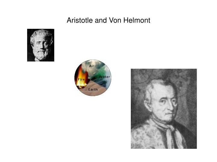 Aristotle and Von Helmont