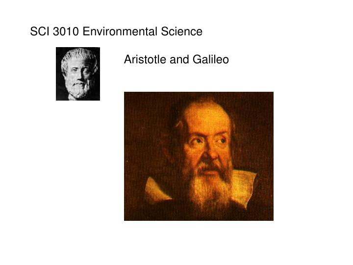 SCI 3010 Environmental Science