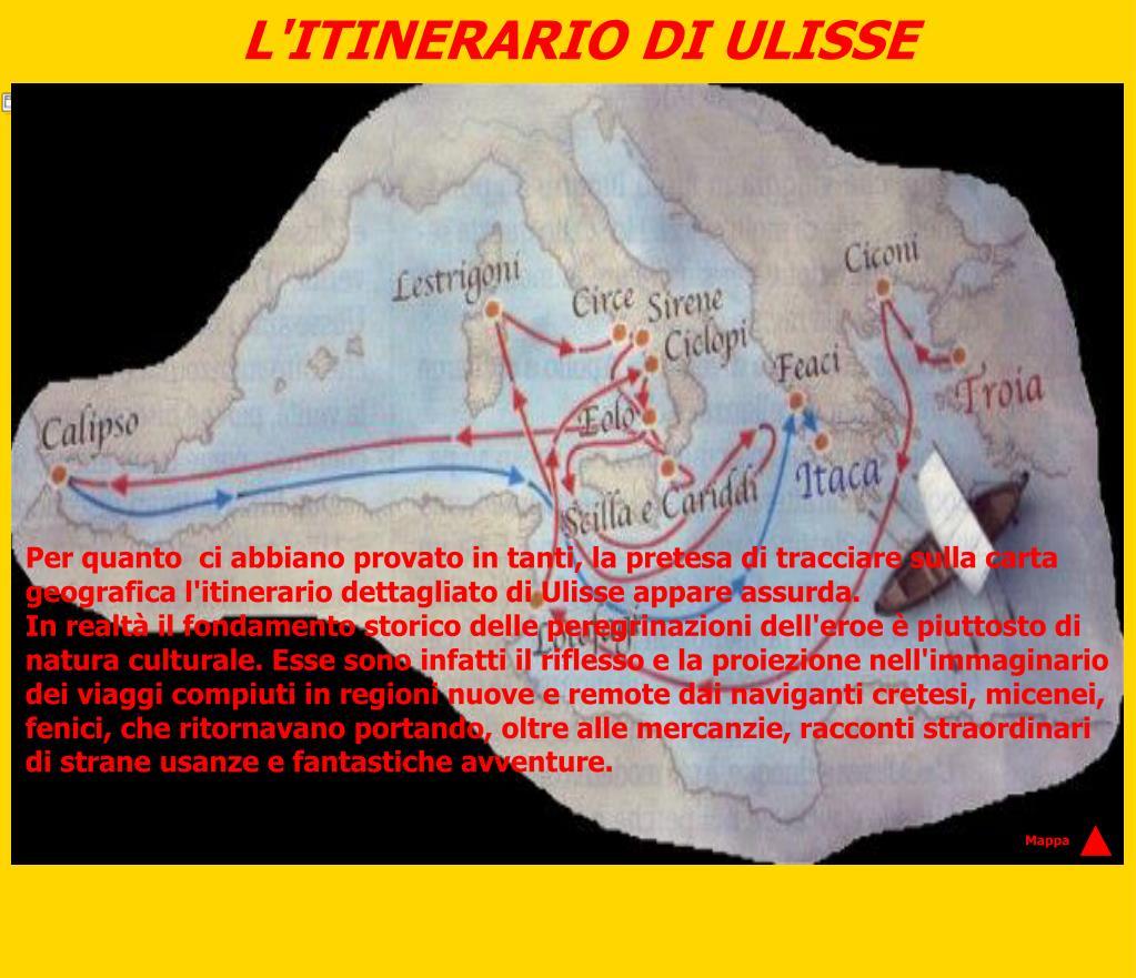 L'ITINERARIO DI ULISSE