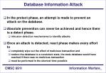 database information attack