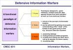 defensive information warfare