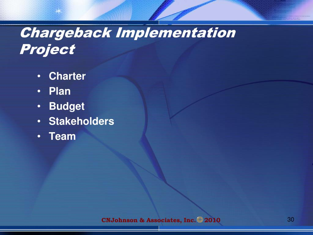 Chargeback Implementation Project
