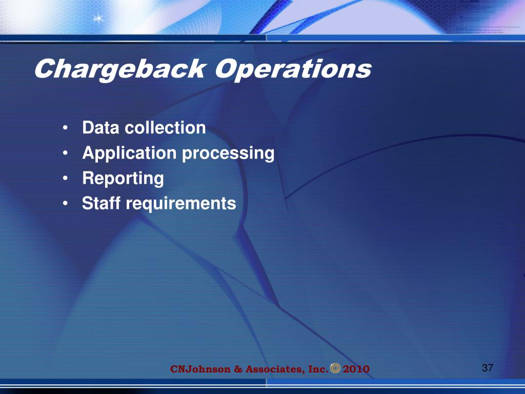 Chargeback Operations