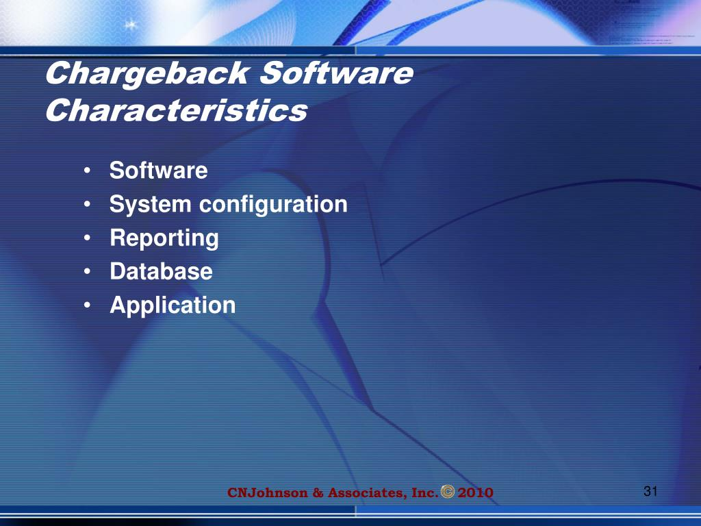 Chargeback Software Characteristics